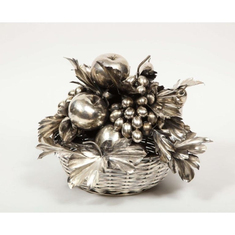 Mario Buccellati, an Italian Silver Fruit Basket Centerpiece 4