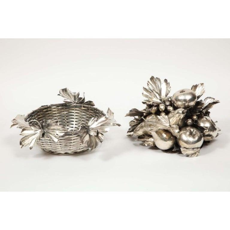 Mario Buccellati, an Italian Silver Fruit Basket Centerpiece 5