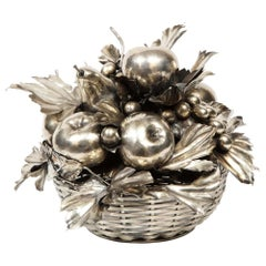 Mario Buccellati, an Italian Silver Fruit Basket Centerpiece