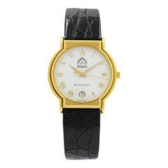 Mario Buccellati Dal 1919 White Enamel Dial 18 Karat Gold Quartz Ladies Watch