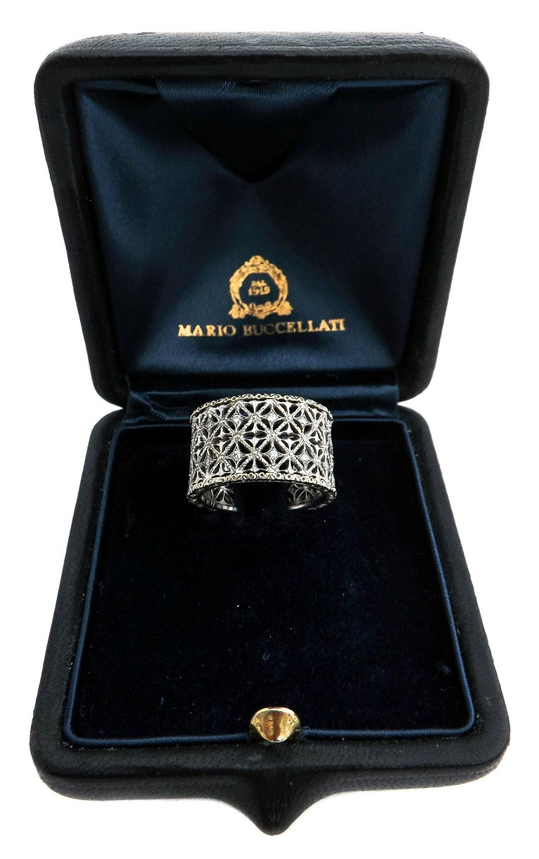 Mario Buccellati Diamond Gold Band Ring For Sale 1