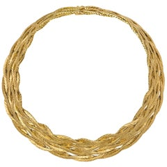 Mario Buccellati Eight Strand Gold Necklace