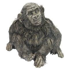 Mario Buccellati Exceptional Italian Silver Monkey