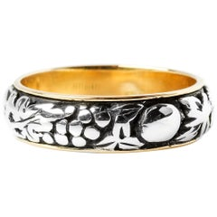 Mario Buccellati Gold and Silver Wedding Band