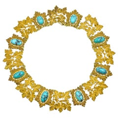 Mario Buccellati Gold and Turquoise Necklace