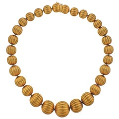 Mario Buccellati Gold Bead Necklace