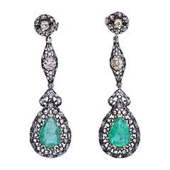 Mario Buccellati Gold Diamond Emerald Earrings