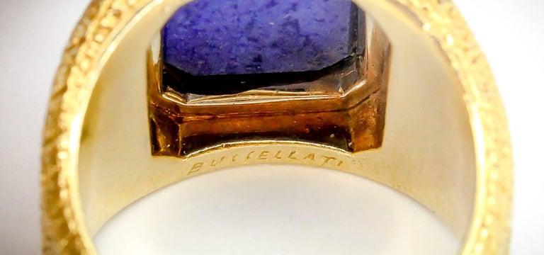 Mario Buccellati Lapis Lazuli and Gold Men's Ring For Sale 2