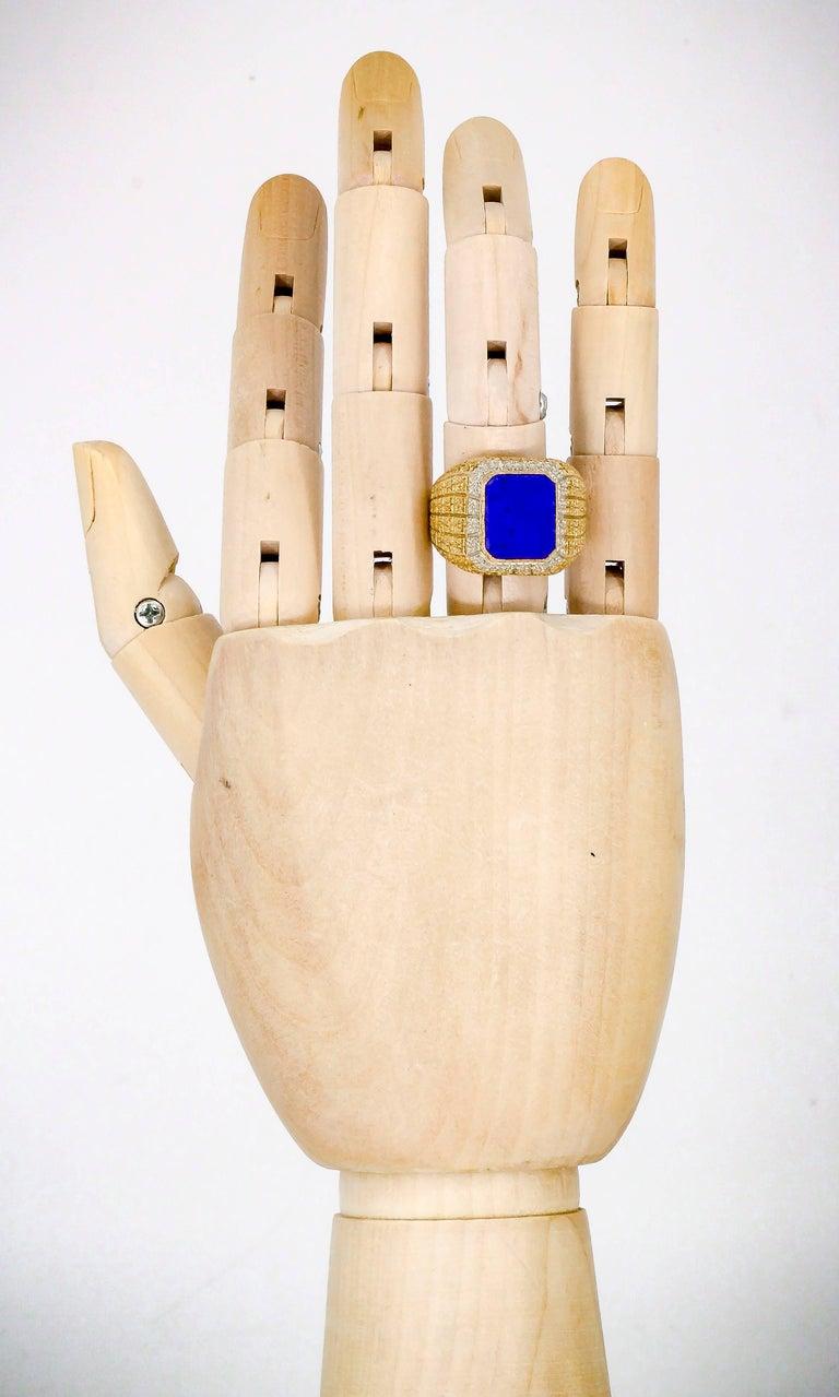 Mario Buccellati Lapis Lazuli and Gold Men's Ring For Sale 5