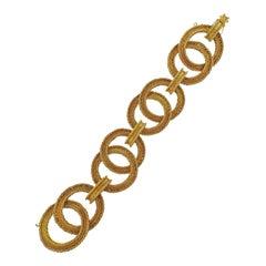 Mario Buccellati Large Circle Link Gold Bracelet