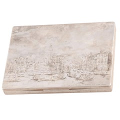 Mario Buccellati Large Silver Cigar Box