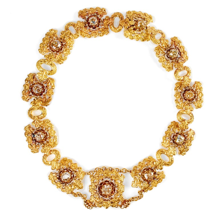 This is a Mario Buccellati Parure from the Mid-Century. All Buccellati jewels —new and old— are distinctively magnificent but vintage Buccellati pieces are in especially high-demand and vintage Mario Buccellati pieces are the most coveted of all.