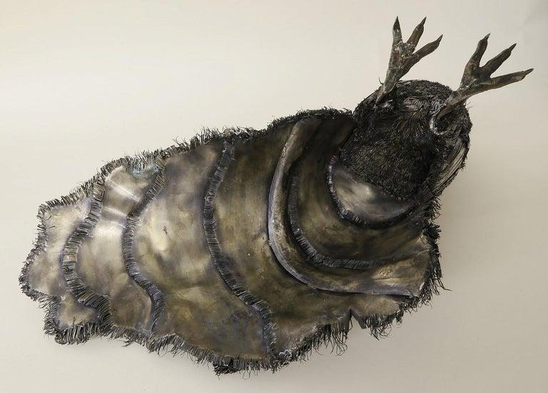 Mario Buccellati, Rare and Exceptional Italian Silver Walking Peacock For Sale 7