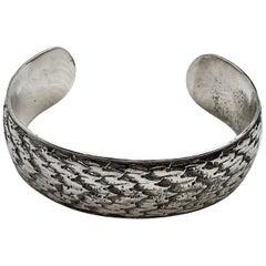 Mario Buccellati Sterling Silver Bangle Bracelet, Italy, 1950s
