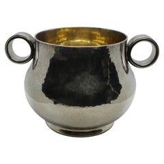 Mario Buccellati Sterling Silver Vase, Italy, 1930s