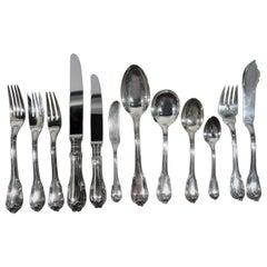 Mario Bucellati Borgia Sterling Silver Set for 10 with 126 Pieces