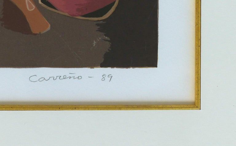 Mario Carreño Abstract Cuban Lithograph, 1989, Signed and Numbered For Sale 2