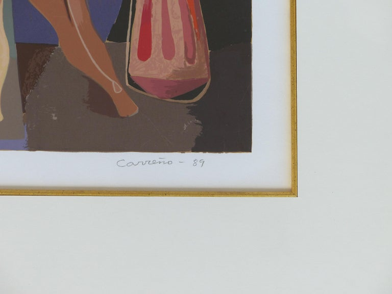 Mario Carreño Abstract Cuban Lithograph, 1989, Signed and Numbered For Sale 3