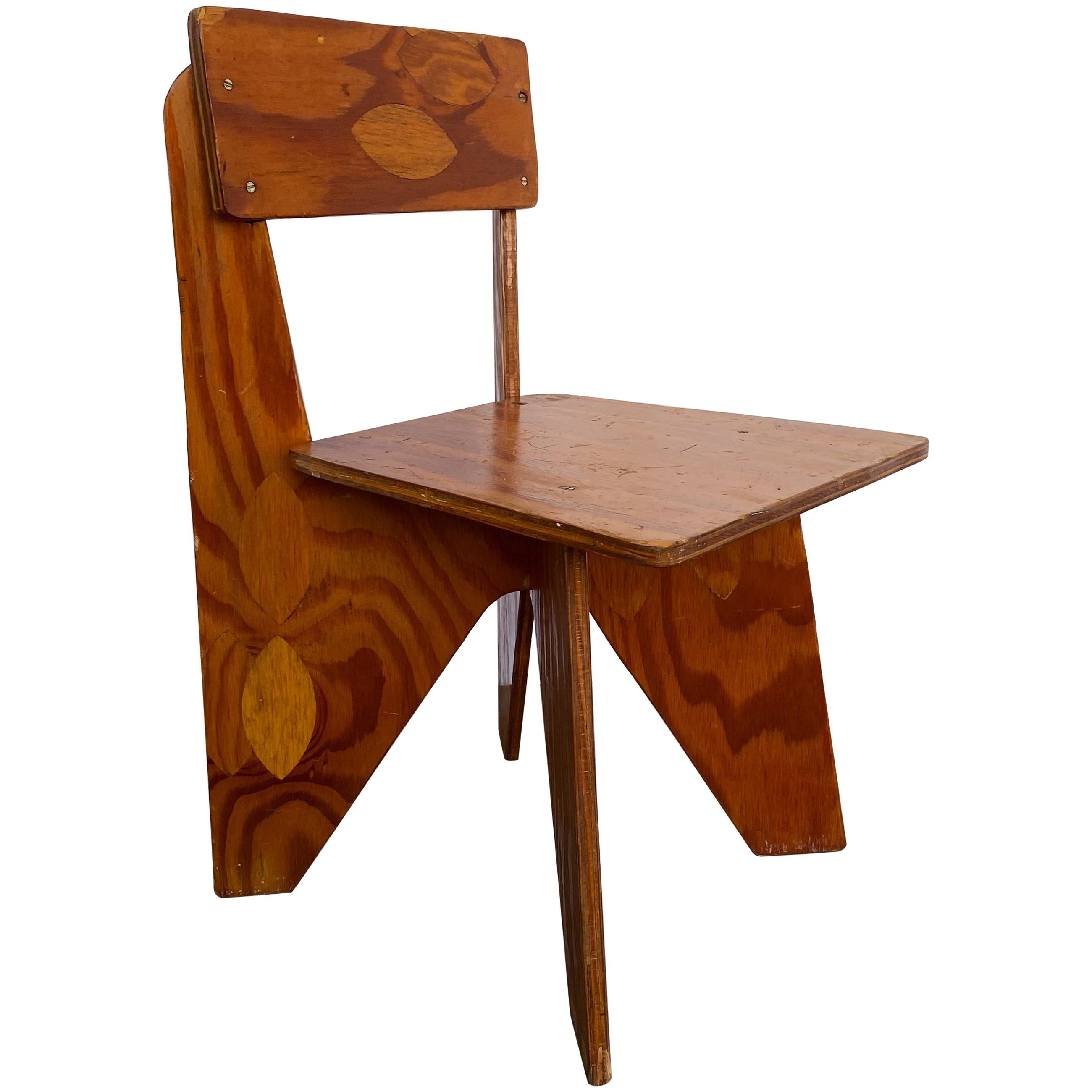 Mario Dal Fabbro Child's Chair in Plywood