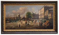 VENICE-In the Manner of Canaletto - Italian Landscape Oil on Canvas Painting