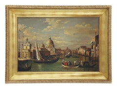 VENICE - Italian landscape oil on canvas painting by Mario De Angeli