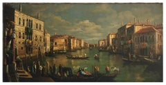 VENICE - Mario De Angeli Italian landscape oil on canvas painting