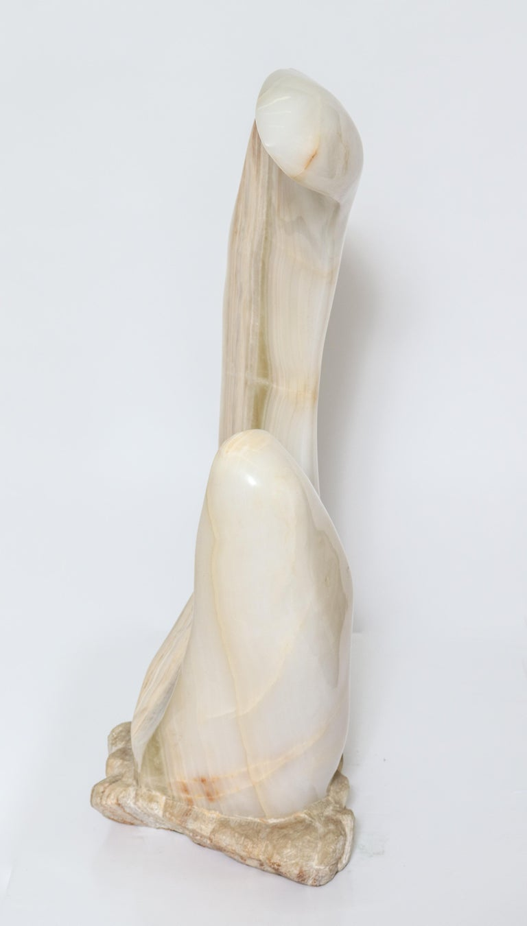 Mario Guti Mid-Century Modern Carved Onyx Biomorphic Sculpture For Sale 1