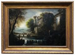 ITALIAN LANDSCAPE - Mario Locatelli Oil on canvas Painting