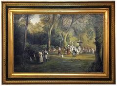 LANDSCAPE - Italian oil on canvas painting, Mario Locatelli