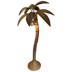 Mario Lopez Torres Att Rattan Palm Tree Floor Lamp