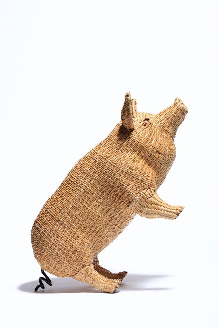Mexican Mario Lopez Torres Pig Sculpture, Signed c. 1970s