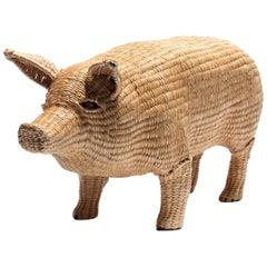 Mario Lopez Torres Pig Sculpture, Signed
