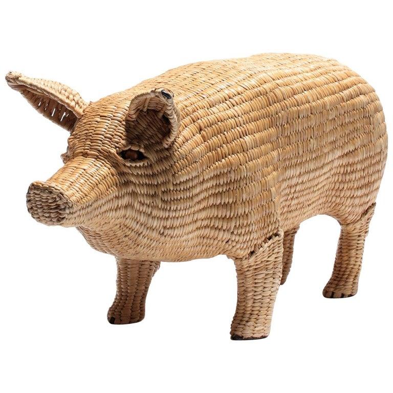 Mario Lopez Torres Pig Sculpture, Signed c. 1970s