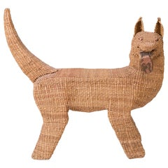 Mario Lopez Torres Woven Reed and Copper Dog