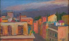 The roofs of Via Margutta, Mario Mafai, 1943 (Italian Modernist Cityscape)