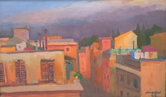 The Roofs of Via Margutta (Rome) - Oil on Canvas by M. Mafai - 1943