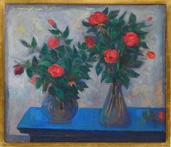 Two Vases of Roses, Mario Mafai, 1952 ( Modernist Still Life)