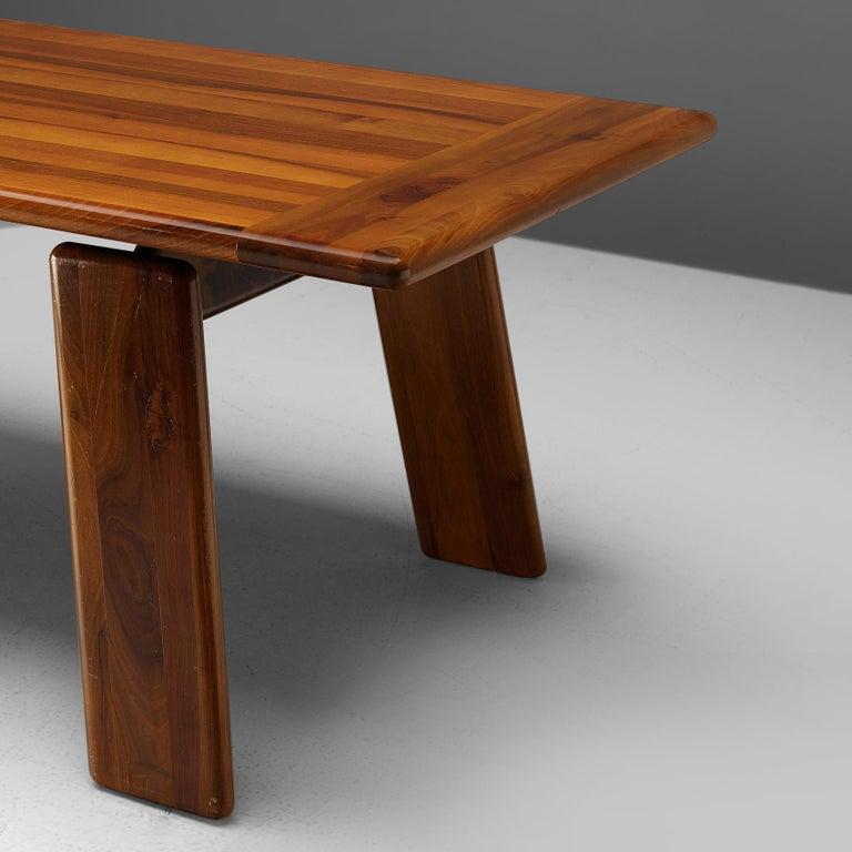 Mario Marenco for Mobilgirgi Dining Table in Walnut In Good Condition In Waalwijk, NL
