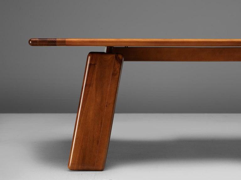 Late 20th Century Mario Marenco for Mobilgirgi Dining Table in Walnut