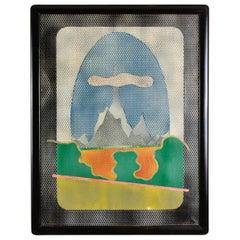 Mario Padovan Paessagio Op Art Painting Vintage, 1967