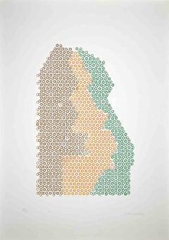 Abstact Composition - Original Screen Print by Mario Padovan - 1977