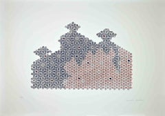 Circles - Original Screen Print by Mario Padovan - 1977