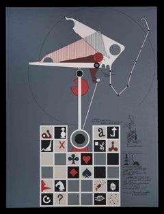 Monument Wallet - Original Lithograph by Mario Persico - 1970 ca.