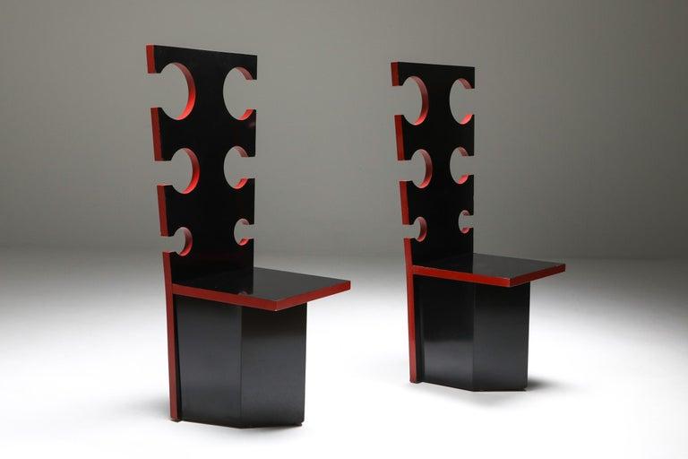 Post-Modern Mario Sabot Sculptural Chairs by Max Papiri For Sale