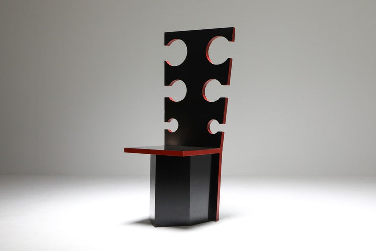 Late 20th Century Mario Sabot Sculptural Chairs by Max Papiri For Sale
