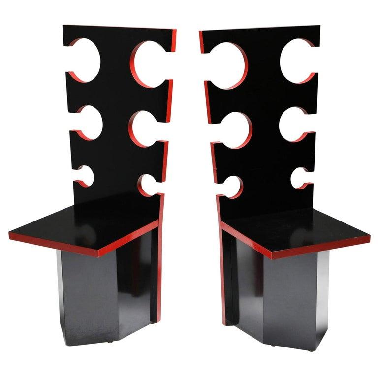 Mario Sabot Sculptural Chairs by Max Papiri For Sale