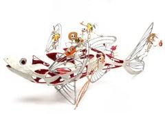 28'' Algo de Michoacan / Carton, Paper and Tin Sculpture Mexican Folk Art