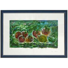 "Mario Schifano ""Acerbi"" Materic Serigraph with frame"