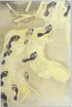 Nel Mio Lavoro dal 60 al 65 - Enamel and Graphite on Canvas - 1965