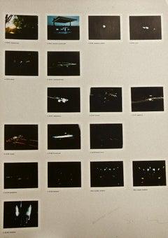 Night Driver - Original Photo-lithograph by Mario Schifano - 1970s
